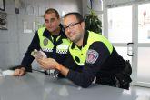 La Policía Local de Puerto Lumbreras rescata a un cernícalo herido