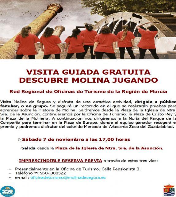 La Concejalía de Turismo de Molina de Segura organiza la visita guiada gratuita DESCUBRE MOLINA JUGANDO el sábado 7 de noviembre - 1, Foto 1