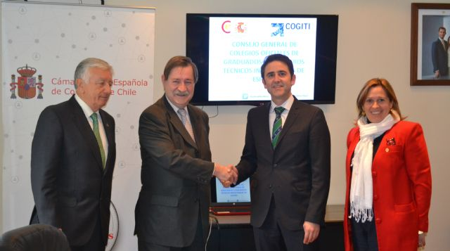 El presidente de los ingenieros técnicos industriales de España y de Murcia se ha reunido en Chile con empresas tecnológicas - 2, Foto 2