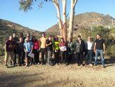Profesores y alumnos de la Universidad de Alicante muestran su interés por las minas de Mazarrón