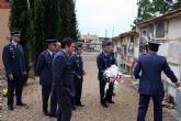 Flores a los soldados que se encuentran en nichos de la Base Aérea de Alcantarilla en nuestro Cementerio Municipal
