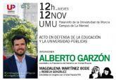 Alberto Garzón en Murcia, en defensa de la educación y la universidad públicas
