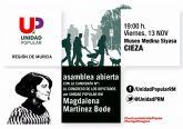 Unidad Popular presentará en Cieza su programa electoral el próximo 13 de noviembre, a las 19,30 horas