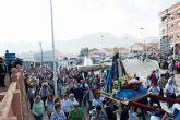 Cientos de fieles acompañan a la Virgen del Milagro hasta Mazarr�n