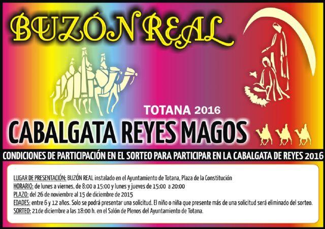 Los niños y niñas de Totana podrán participan en el sorteo del Buzón Real, Foto 1