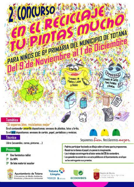 Se organiza el concurso de dibujo En el reciclaje, tú pintas mucho dirigido a escolares de 6° de Educación Primaria en el marco de la campaña para el fomento del reciclaje Separemos bien, reciclaremos mejor, Foto 1