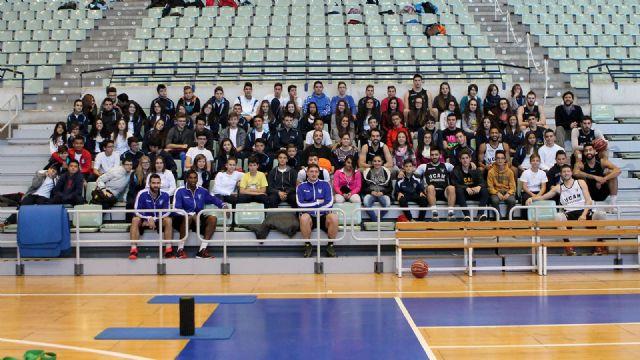 El Colegio Majal Blanco visita al UCAM Murcia CB - 1, Foto 1
