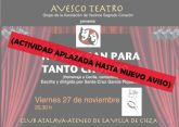 La asociación de Mujeres Atenea suspende la obra de teatro programada para esta tarde
