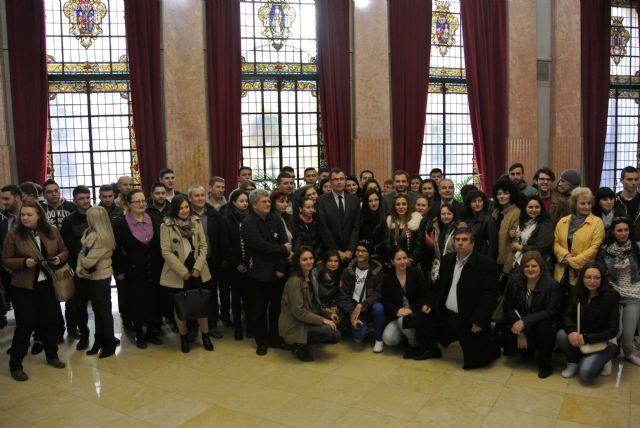 El Alcalde acompaña a los alumnos de visita por el Ayuntamiento - 4, Foto 4