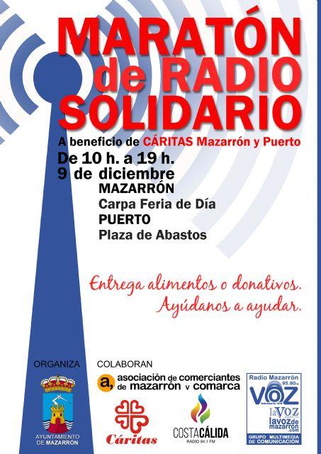 Cáritas, ACOMA y las emisoras locales organizan el 9 de diciembre un nuevo maratón solidario, Foto 2
