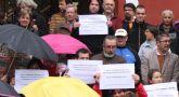 Concentraci�n en la puerta del Ayuntamiento para protestar por la Ley de Reforma Local