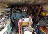 La Guardia Civil desmantela un grupo criminal dedicado a asaltar viviendas rurales, en Cieza