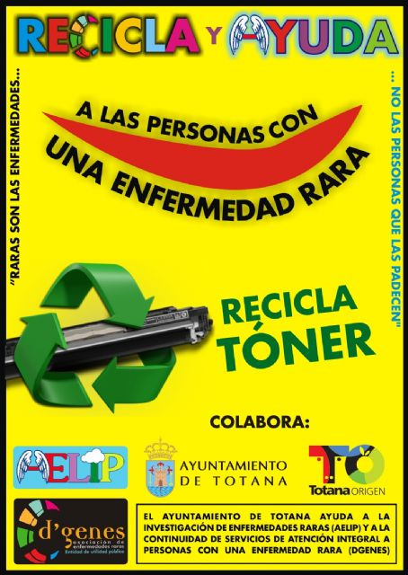 "The City is working with ""D'Genes"" and ""AELIP"" in the collection and recycling of toner"