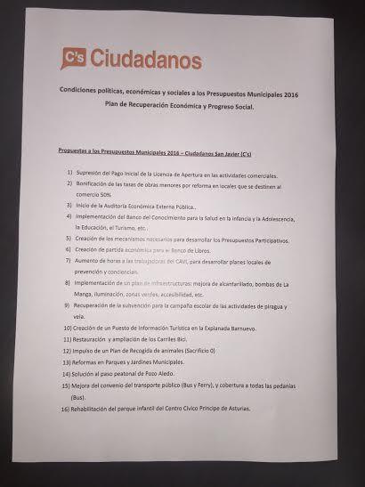 C´S San Javier busca el compromiso del Ayuntamiento de reducir el IBI para el 2017 - 1, Foto 1
