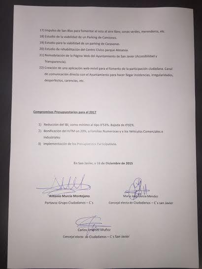 C´S San Javier busca el compromiso del Ayuntamiento de reducir el IBI para el 2017 - 2, Foto 2