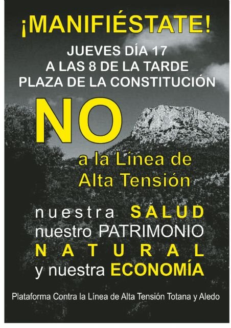 The Platform organizes a concentration against the High Voltage Line, tomorrow at 20:00 pm in the Plaza of the Constitution, Foto 2
