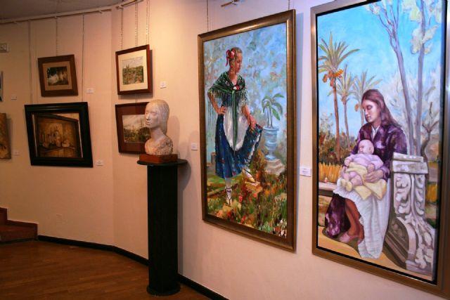 Abre la Muestra de Artistas y Pintores Murcianos en el Centro Cultural Infanta Elena durante la Navidad - 3, Foto 3