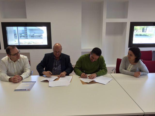 Los empresarios del Parque Industrial Oeste y el Ayuntamiento de Alcantarilla firman el convenio de colaboración - 2, Foto 2