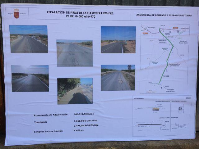 Inaugurada las obras de mejora de la carretera que une Torre-Pacheco con Balsicas - 1, Foto 1