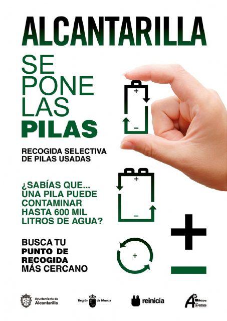 Alcantarilla se pone las pilas, es el slogan elegido para iniciar el nuevo servicio de recogida selectiva de pilas y baterías usadas en el municipio - 2, Foto 2