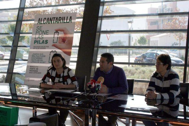 Alcantarilla se pone las pilas, es el slogan elegido para iniciar el nuevo servicio de recogida selectiva de pilas y baterías usadas en el municipio - 4, Foto 4