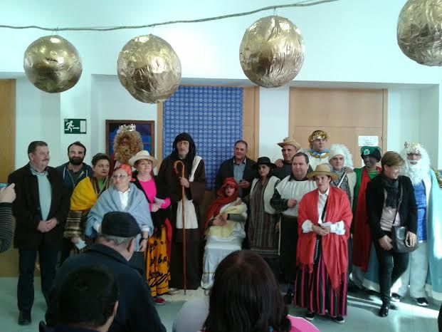 The users of the Day Centre for Mentally Ill represent a Living Nativity occasion of his Christmas holiday