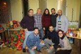 El partido solidario de fútbol recoge unos 4.500 kilos de comida para los más necesitados de Cehegín