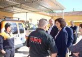 La Comunidad refuerza las tareas log�sticas de la protecci�n civil en Caravaca de la Cruz, Jumilla y Totana
