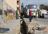 El Ayuntamiento y la Comunidad renuevan redes de saneamiento en Puerto Lumbreras