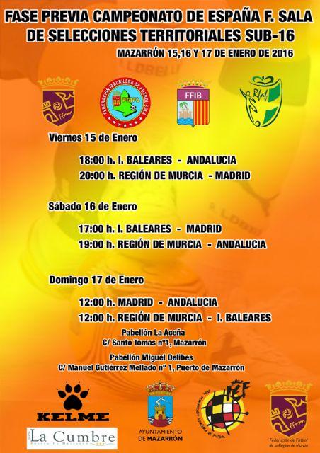 Mazarrón acoge la fase previa del campeonato de España sub 16 de Fútbol Sala - 1, Foto 1