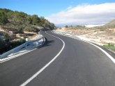 La Comunidad finaliza las obras de ensanche y mejora de la carretera entre El Cantón, en Abanilla, y la provincia de Alicante