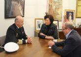 La alcaldesa de Puerto Lumbreras recibe al delegado de Defensa en la Región de Murcia