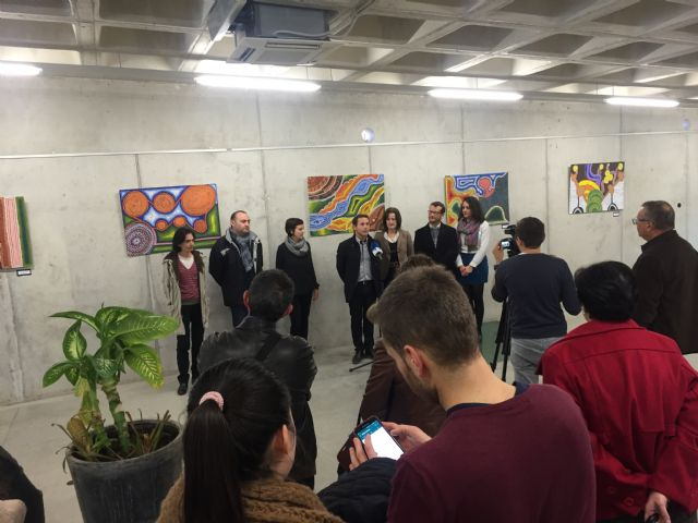 Inaugurada Punto y Arte, Exposición alumnos del IES Luis Manzanares - 1, Foto 1