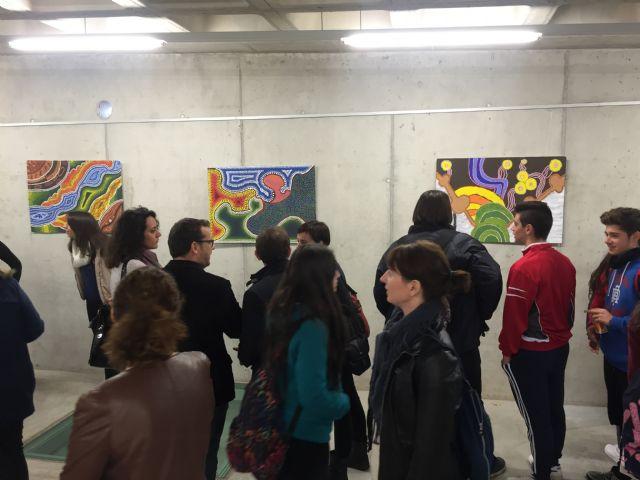 Inaugurada Punto y Arte, Exposición alumnos del IES Luis Manzanares - 2, Foto 2