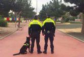 La nueva unidad canina de la Policía Local torreña, en pleno funcionamiento