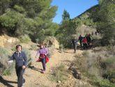 Cerca de 40 senderistas recorrieron el espacio natural 'Valle y Carrascoy' tras participar en una nueva jornada del programa municipal de Senderismo