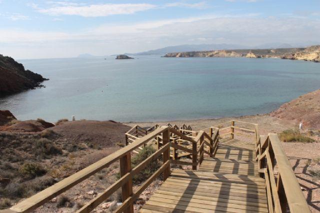 Iniciada la mejora de los accesos en las playas de El Mojón y Rincón de Bolnuevo - 2, Foto 2