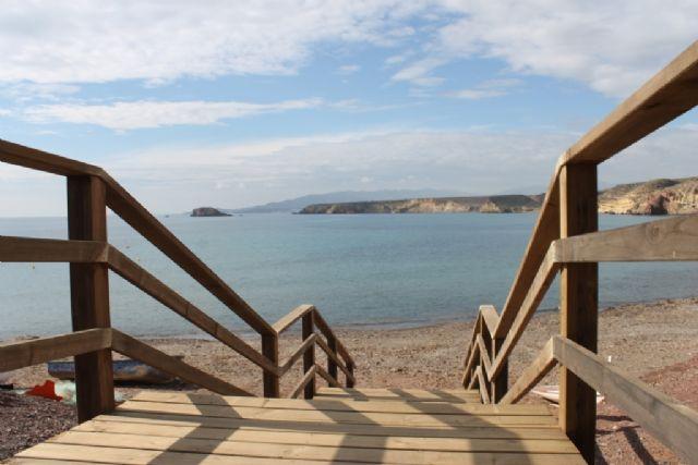 Iniciada la mejora de los accesos en las playas de El Mojón y Rincón de Bolnuevo - 3, Foto 3