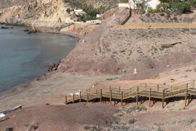 Iniciada la mejora de los accesos en las playas de El Mojón y Rincón de Bolnuevo - 4, Foto 4