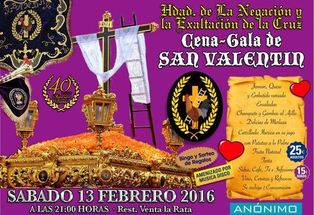 La Hermandad de la Negación organiza una cena-gala San Valentin 2016, Foto 1