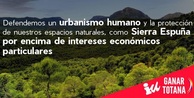 Ganar Totana asegura que la Conservación y Protección de los Espacios Naturales es una prioridad innegociable en el PGOU, Foto 1