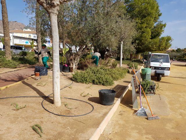 Trabajos de mantenimiento y mejora en el jardín de El Palmeral, Foto 1