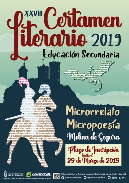 La Concejalía de Juventud de Molina de Segura convoca el XXVIII Certamen Literario de Educación Secundaria 2019 en las modalidades de Microrrelato y Micropoesía - 1, Foto 1