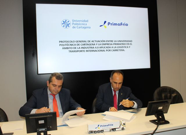 Primafrio y la Universidad Politécnica de Cartagena firman un protocolo de actuación en el ámbito de la industria 4.0, Foto 1