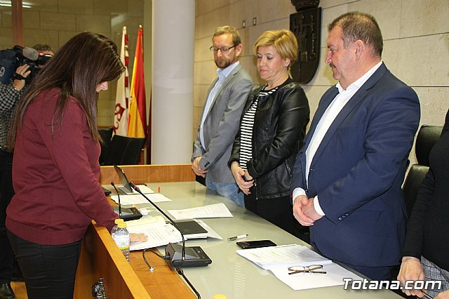 The new councilor of the Municipal People's Group, Eulalia Hernández López takes office