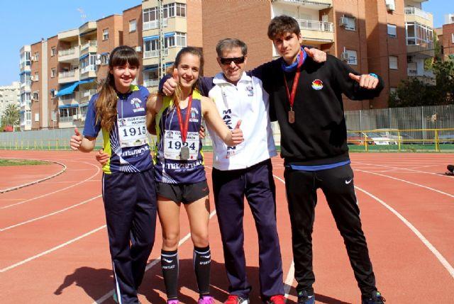 Triplete del club atletismo Mazarrón en la final regional alevín, infantil y cadete - 1, Foto 1