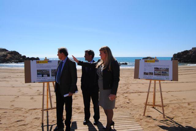 Las obras de emergencia para la regeneración de las playas de Mazarrón afectadas por el temporal terminarán antes de final de mes - 1, Foto 1