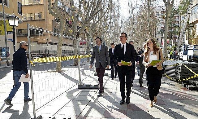 El peatón gana 15.000 m2 en el centro de Murcia con el inicio de las obras de la Fase II de la avenida Alfonso X - 1, Foto 1