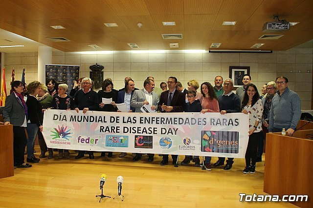 The Municipal Corporation of Totana makes an official declaration for the World Day of Rare Diseases, coinciding with the celebration of the regular plenary session in February - 2