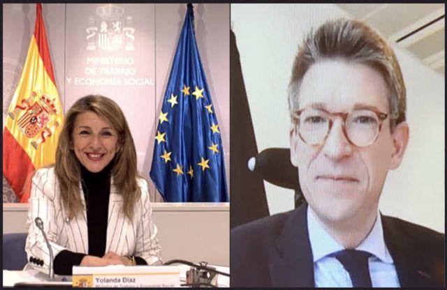 Yolanda Díaz y el viceprimer ministro belga acuerdan impulsar un grupo de trabajo para promover la propuesta de directiva de Salario Mínimo europeo - 4, Foto 4